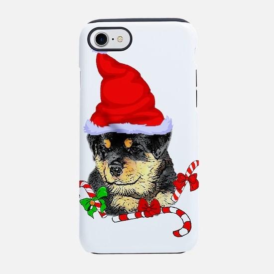 Rottweiler Puppy Christmas iPhone 7 Tough Case