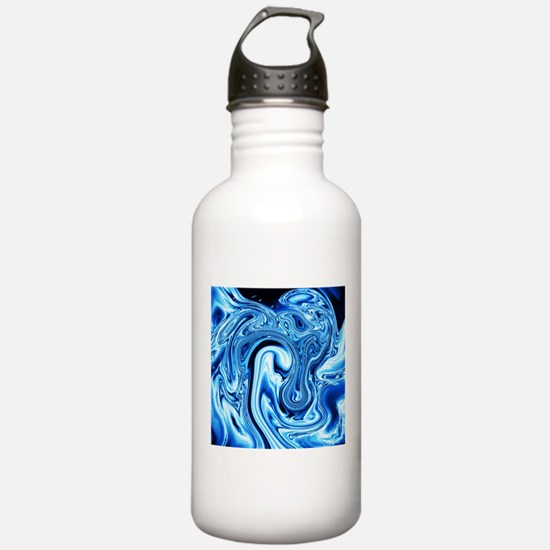 Fluid Art 09 ice blue Water Bottle