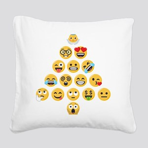 Emoji Christmas Tree emojis Square Canvas Pillow