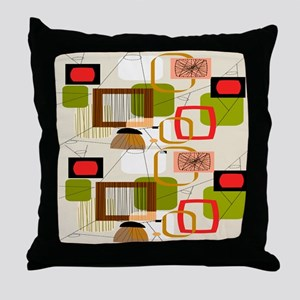 Atomic ABCD Throw Pillow