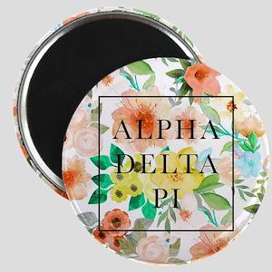 Alpha Delta Pi Floral Magnet