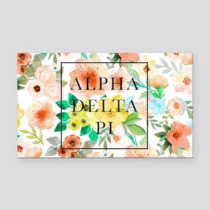 Alpha Delta Pi Floral Rectangle Car Magnet