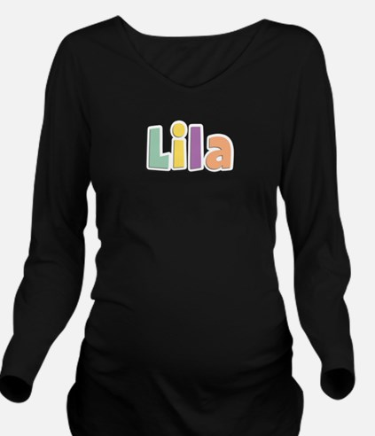 Lila Spring14 Long Sleeve Maternity T-Shirt