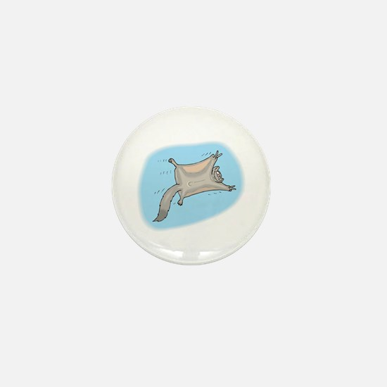 Funny Flying Squirrel Mini Button