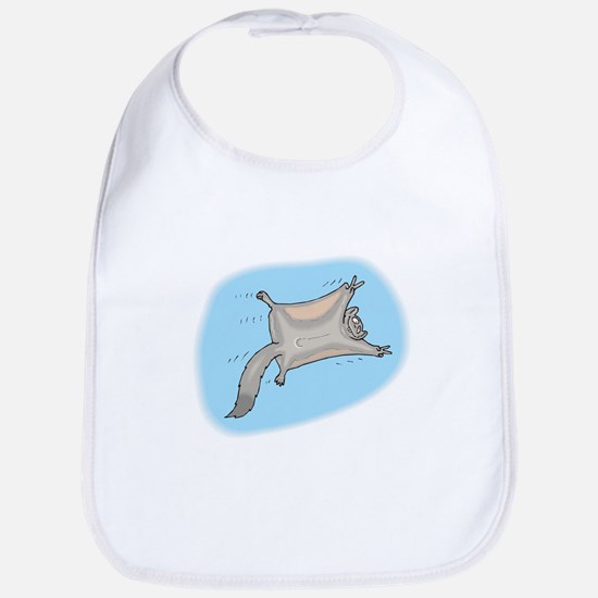 Funny Flying Squirrel Bib