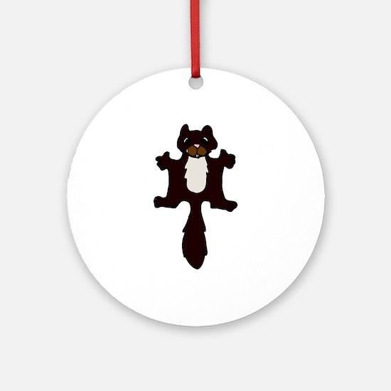 Cute Flying Squirrel Ornament (Round)