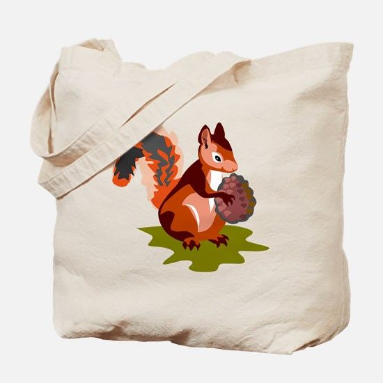 Colorful Squirrel Tote Bag