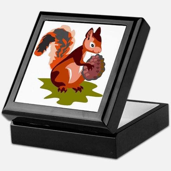 Colorful Squirrel Keepsake Box