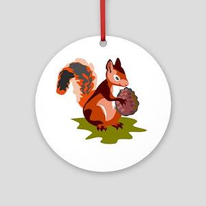 Colorful Squirrel Ornament (Round)