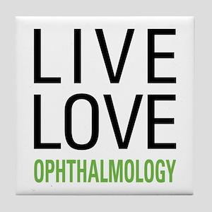 Live Love Ophthalmology Tile Coaster