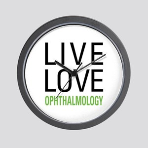 Live Love Ophthalmology Wall Clock