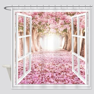 Romantic View Shower Curtain