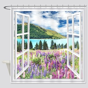 New Zealand View Shower Curtain