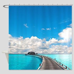 Tropical Bungalow Shower Curtain