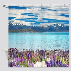 New Zealand Landscape Shower Curtain