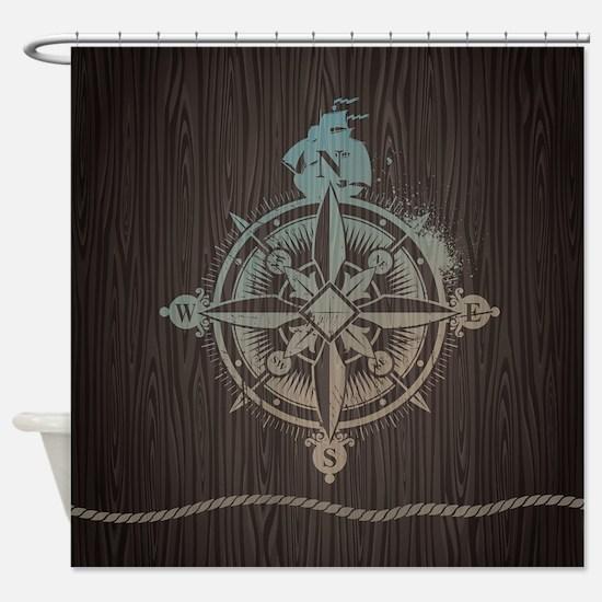 Nautical Compass Shower Curtain