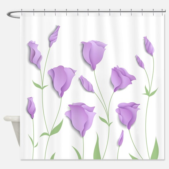Lilac Flowers Shower Curtain