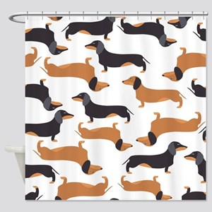 Cute Dachshunds Shower Curtain