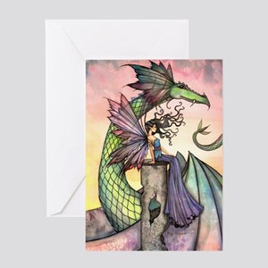 A Distant Place Fairy and Dragon Fantasy Art Greet