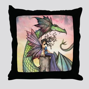 A Distant Place Fairy and Dragon Fantasy Art Throw