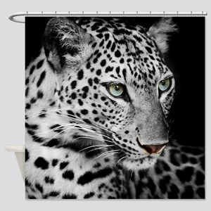 White Leopard Shower Curtain