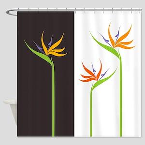 Bird Of Paradise Flowers Shower Curtain