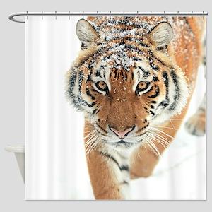 Snow Tiger Shower Curtain
