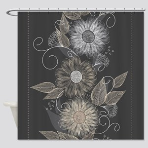 Elegant Floral Shower Curtain