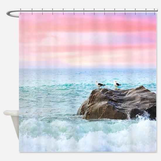 Seagulls At Sunrise Shower Curtain