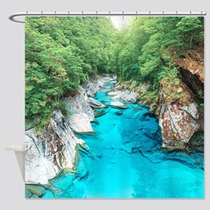 New Zealand River Shower Curtain