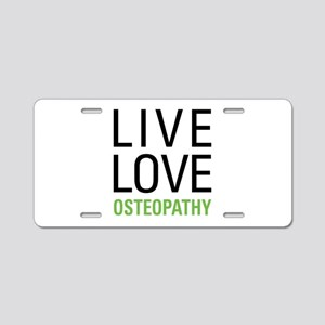 Osteopathy Aluminum License Plate
