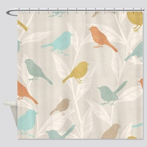 Pretty Birds Shower Curtain
