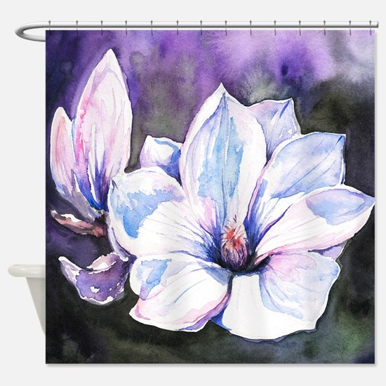 Magnolia Painting Shower Curtain