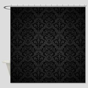 Elegant Black Shower Curtain