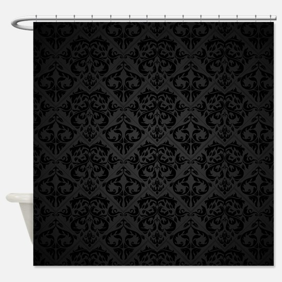 Elegant Black Shower Curtain