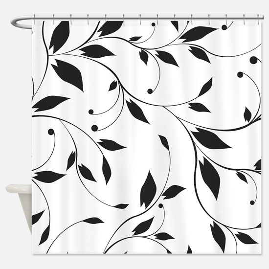 Elegant Leaves Shower Curtain