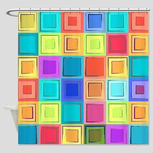 Colorful Retro Shower Curtain
