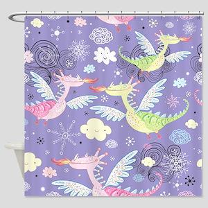 Cute Dragons Shower Curtain