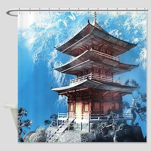 Zen Temple Shower Curtain