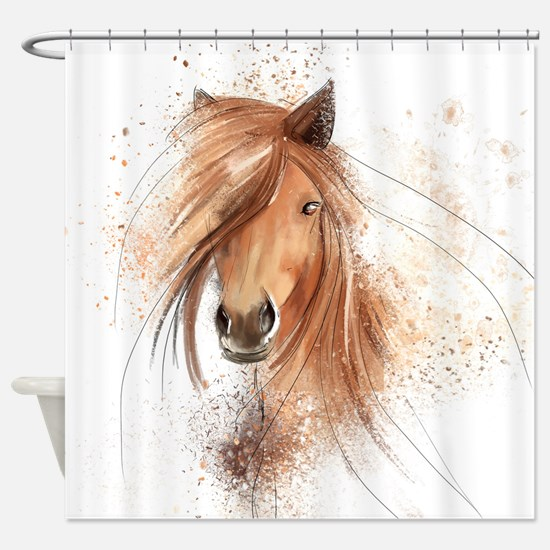 Horse Painting Shower Curtain