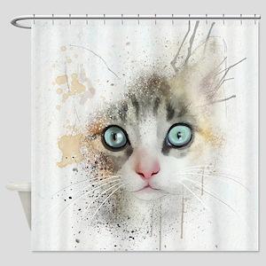 Kitten Painting Shower Curtain