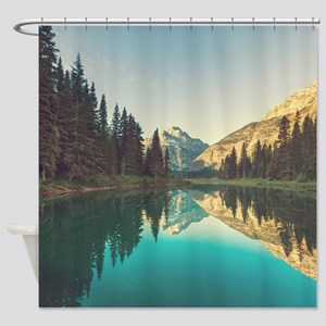 Glacier National Park Shower Curtain