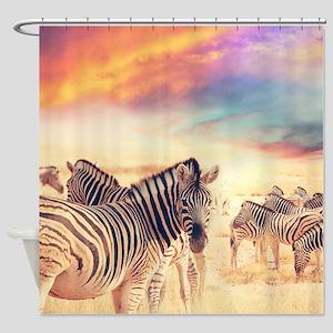 Beautiful Zebras Shower Curtain
