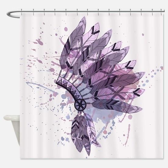 Purple Headdress Shower Curtain