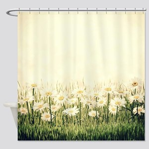 Rustic Daisies Shower Curtain