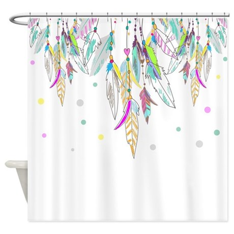 Dreamcatcher Feathers Shower Curtain By BestShowerCurtains