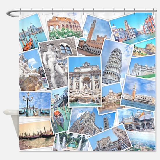 Italy Collage Shower Curtain