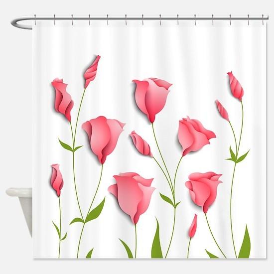 Pretty Flowers Shower Curtain