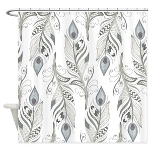 Feather Shower Curtains