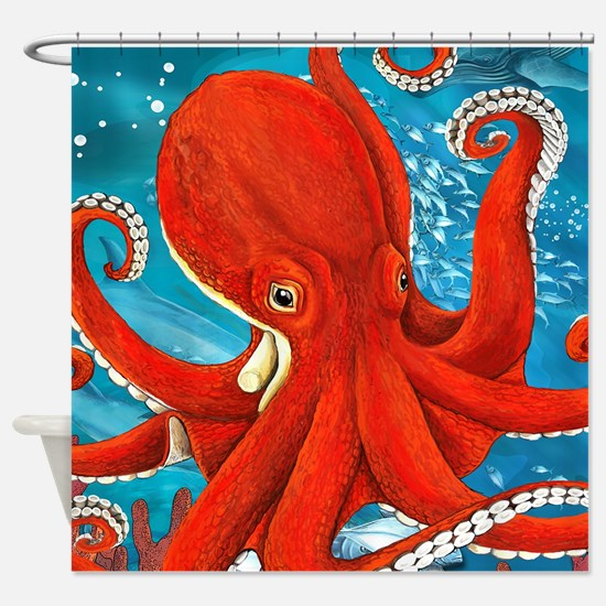 Octopus Painting Shower Curtain